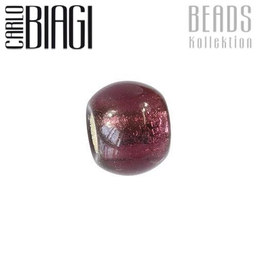Carlo Biagi Bead Glas lila für European Beads BBGMB02