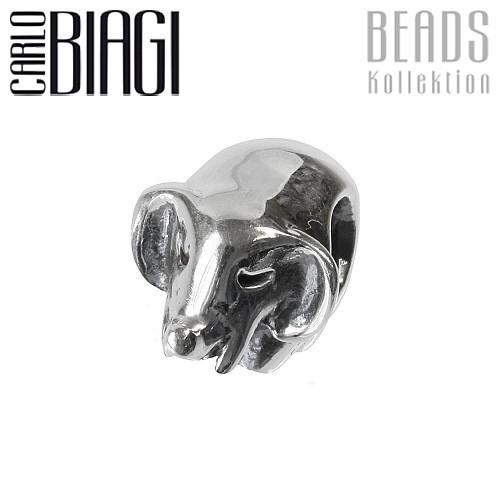 Carlo Biagi Bead Elefant 925 Silber European Beads BBS038