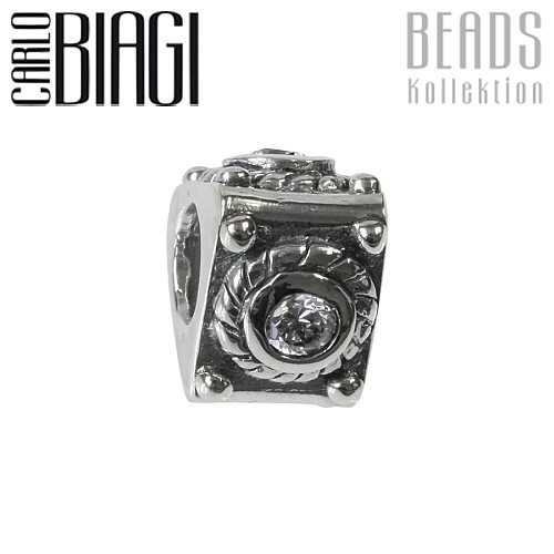 Carlo Biagi Zirkonia Bead Dreieck European Beads BBSCZ09C