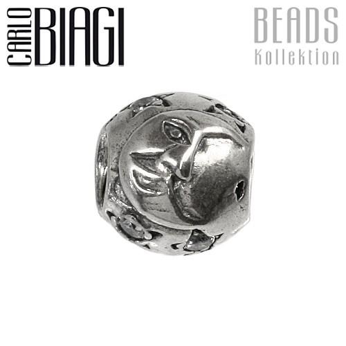 Carlo Biagi Zirkonia Bead Mond European Beads BBSCZ56C