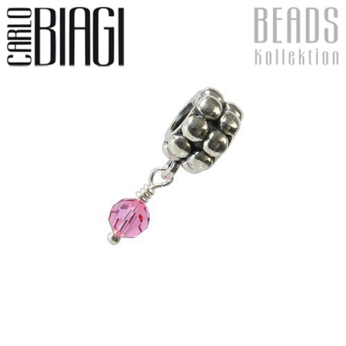 Carlo Biagi Dangle Bead Rose Silber European Beads BDBB10