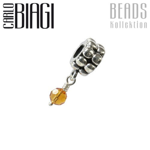 Carlo Biagi Dangle Bead Citre Silber European Beads BDBB11