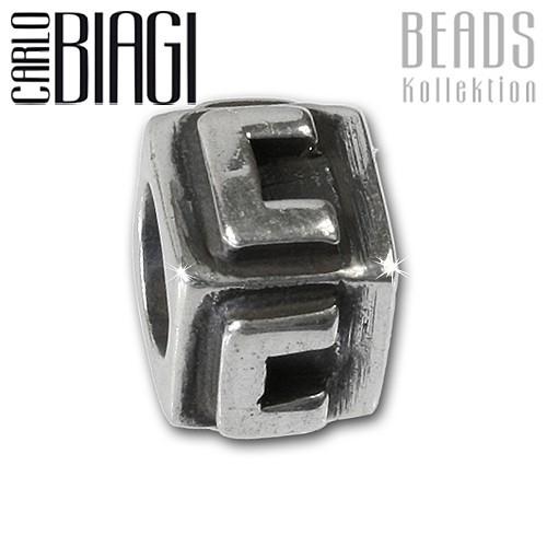 Carlo Biagi Bead Buchstabe C Silber European Beads BLPC