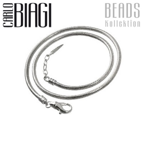 Carlo Biagi 43cm Karabiner Bead Halskette 925 BNLEX43