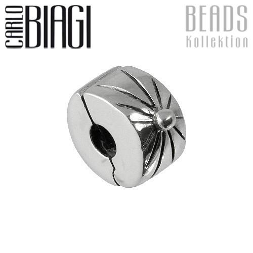 Carlo Biagi Bead Clip Sonne Silber European Beads BSFC05