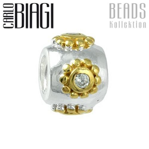 Carlo Biagi Bead Ball 925 Bicol European Beads BTTCZ17C