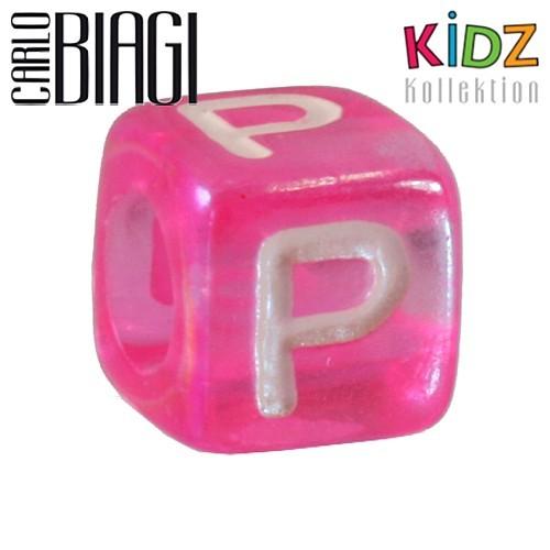 Carlo Biagi Kidz Bead Buchstabe P Beads für Armband KSPPLP