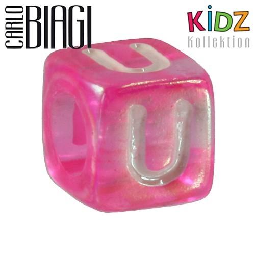 Carlo Biagi Kidz Bead Buchstabe U Beads für Armband KSPPLU