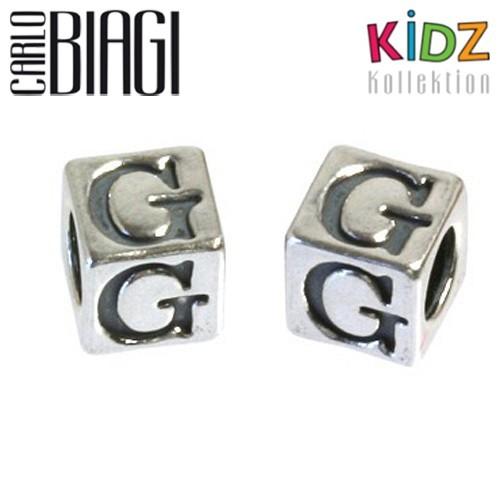 Carlo Biagi Kidz Bead Buchstabe G Silber Beads KSSLG