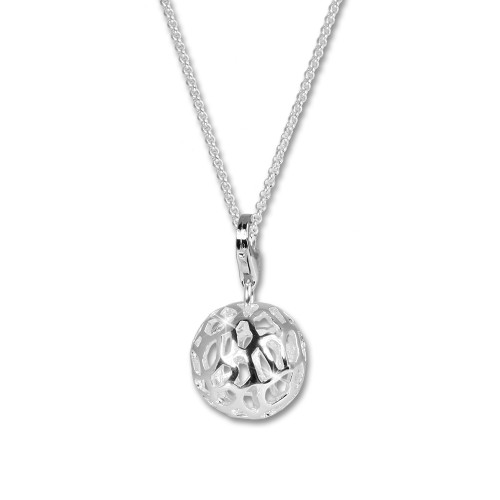 SilberDream Charm Muster Kugel Set mit Kette 925 Silber FCA121