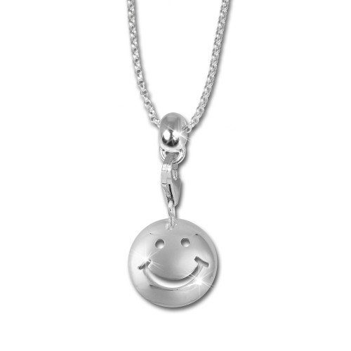 SilberDream Kinder Set Kette Charm Smiley 925 Silber FCA124