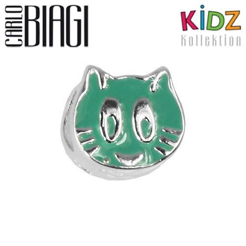 Carlo Biagi Kidz Bead Katze türkis Silber Beads KBE129