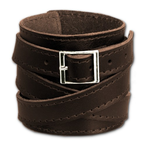 SilberDream Lederarmband braun Herren Leder Armband LA1302B