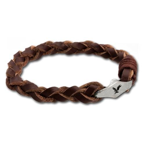 SilberDream Lederarmband hellbraun unisex Leder Armband LA0050N