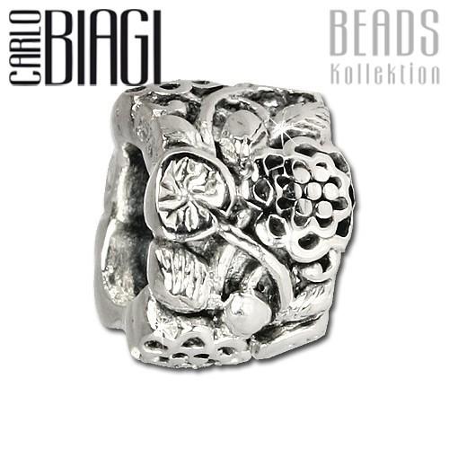 Carlo Biagi Bead Blumenranke 925 Silber European Beads BBS323