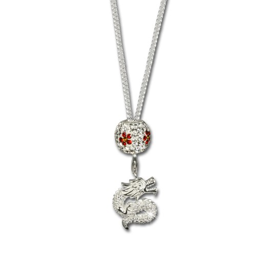 SilberDream Silber 925 Charms Kette Drache mit Charm Kette Beads FCA129