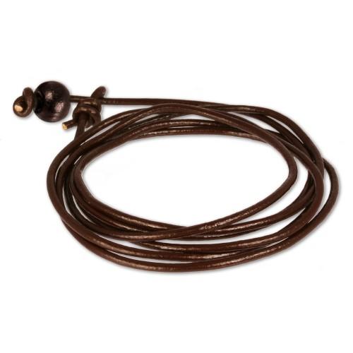 Teenie-Weenie Kinder Leder-Armband braun Teenie-Weenie Schmuck LA0033BK