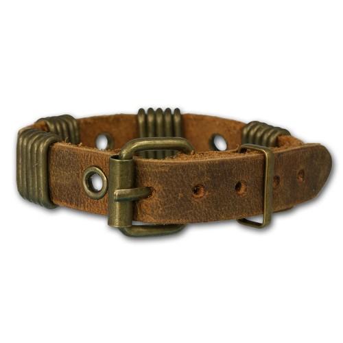 SilberDream Lederarmband braun Herren Leder Armband LA3152B