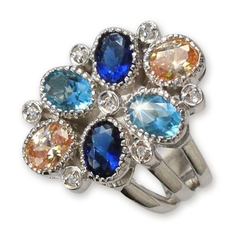 SilberDream Sterling Silber Ring 925 Multicolor Gr.17 RX2027