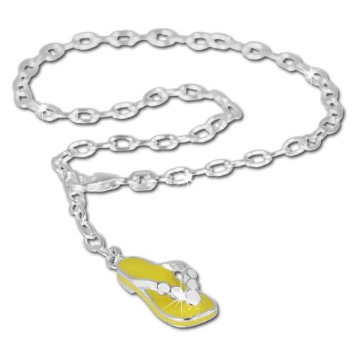 SilberDream 25cm Fußkette Flipflop 925 Silber SDF002