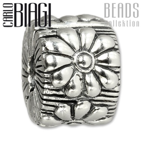 Carlo Biagi Bead Clip Blume Silber European Beads BSFC10