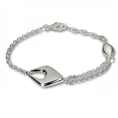 SilberDream Armband Drop 925 Sterling Vollsilber 18,5cm SDA413