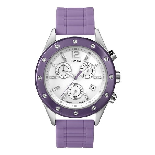 TIMEX Uhr lila Damenuhr TIMEX Classic Uhren Kollektion UT2N832