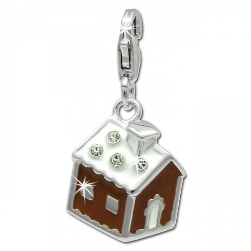 SilberDream Charm Lebkuchenhaus 925 Silber Armband Anhänger FC812N