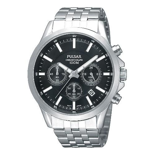 Pulsar Herrenuhr Chronograph schwarz Modern Uhren Kollektion UPT3045