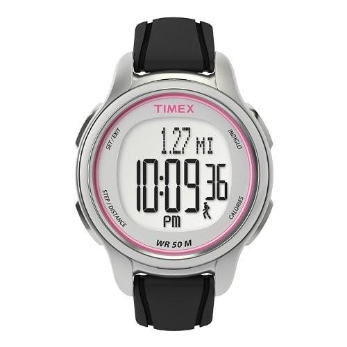 TIMEX Uhr schwarz-rosa Damenuhr TIMEX Sports Uhren Kollektion UT5K636