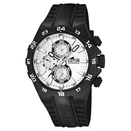 Lotus Unisexuhr Chrono schwarz-wei Khrono Uhren Kollektion UL15800C UL15800C