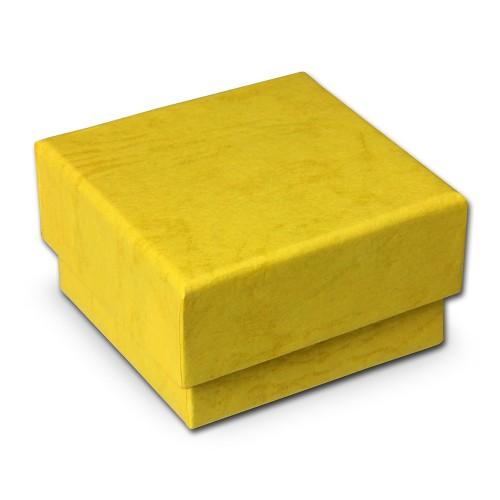 SD Schmuckschachtel gelb Geschenk-Verpackung 40x40x25mm Etui VE3042Y