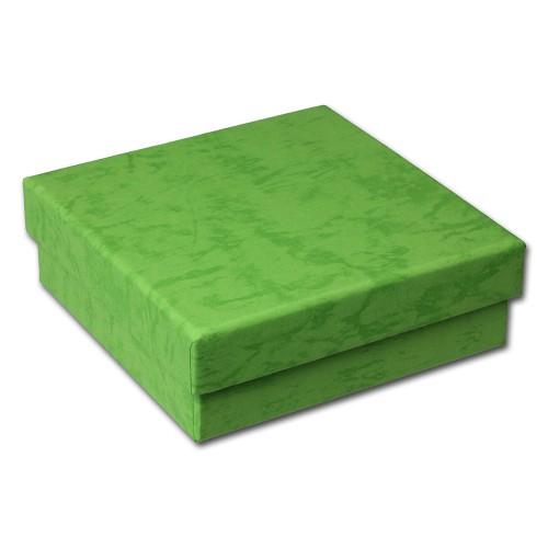 SD Geschenk-Verpackung grün Schmuckschachtel 90x90x30mm Etui VE3093G
