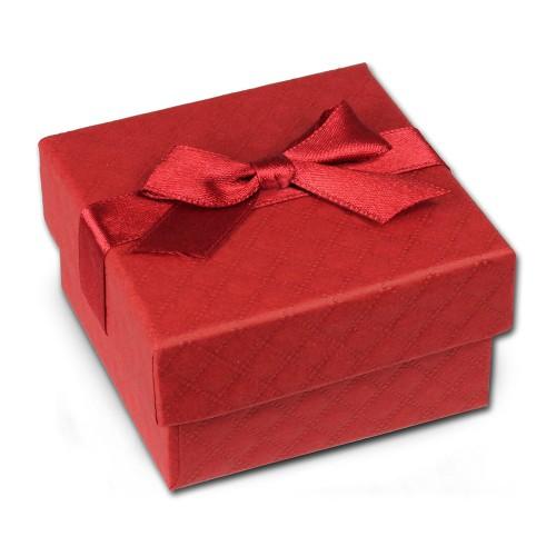 SD Geschenkverpackung rot 65x65x35mm Schmuckschachtel mit Schleife VE3163R
