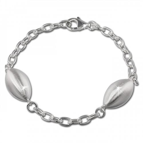 SilberDream Armband Ellipse gro 925 Sterling Silber 19cm Damen SDA421