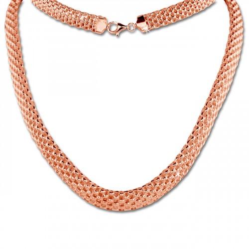 großes Sortiment billig für Rabatt herausragende Eigenschaften SilberDream Collier Kette Geflecht Rose vergoldet Damen 45cm ...