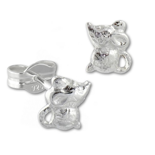 Kinder Ohrring Muschen 925er Sterling Silber Kinderschmuck TW SDO593J