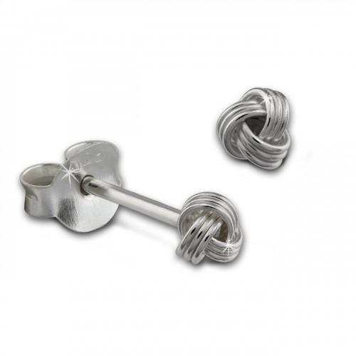 SilberDream Ohrstecker Knoten 925 Sterling Silber Ohrring SDO8214J