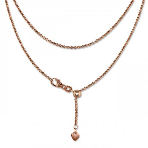 SilberDream Collier Kette Herz rose vergoldet 925er Silber Damen 45cm SDK22645E