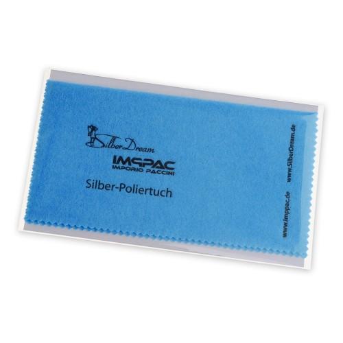SilberDream Imppac Schmuck Reinigungstuch blau Pflege Poliertuch ZAP137B1