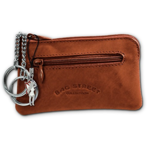 Schlüsseltasche braun Echtleder, glattes Leder Etui Bag Street OPJ900N