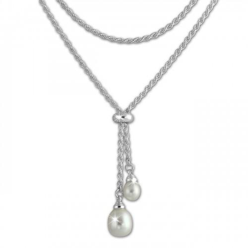SilberDream Collier Kordel 65cm gedreht silber 925 Silber Damen SDK27465J