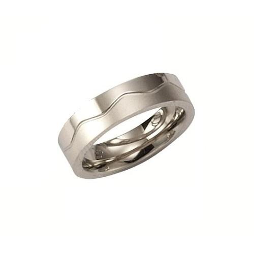 KISMA Schmuck Ring Gr 54 Edelstahl glnzend und matt KIR0127-011-54