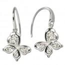 SilberDream Ohrring Schmetterling Swarovski Elements Silber GSO207