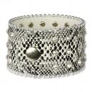 SilberDream Lederarmband schwarz Zirkonia Damen Leder Armband LAP229S