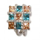 SilberDream Sterling Silber Ring 925 Multicolor Gr.17 RX2047