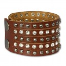 SilberDream Lederarmband braun Zirkonia Damen Leder Armband LAP231B