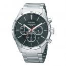 Pulsar Herrenuhr XL-Chronograph dunkel Modern Uhren Kollektion UPT3005