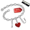 SilberDream Armband Fashion Charm Set I Love You 925 Anhänger FCA315