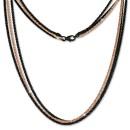 SilberDream Collier Kette gedreht rose vergoldet und geschwrzt 45cm SDK23745S